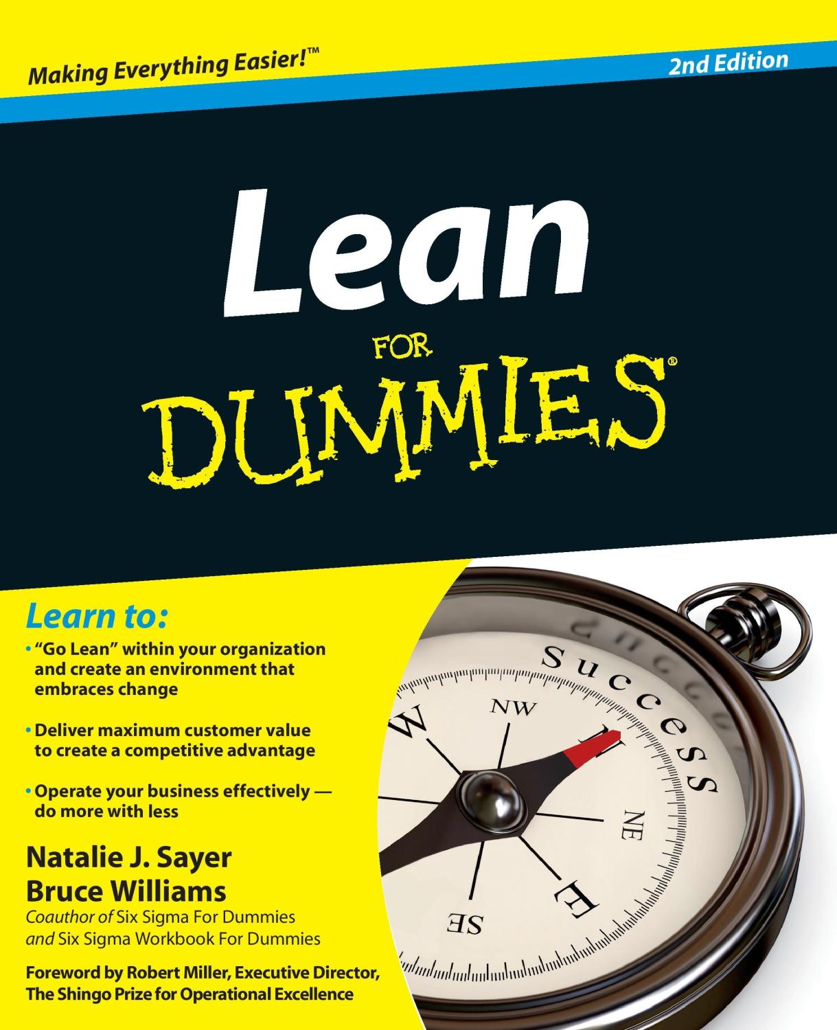 Lean for Dummies, 2nd Edition - Natalie J. Sayer
