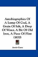 Autobiographies of a Lump of Coal, a Grain of Salt, a Drop of Water, a Bit of Old Iron, a Piece of Flint (1870) - Carey, Annie