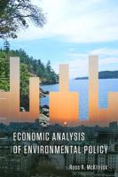 Economic Analysis of Environmental Policy - McKitrick, Ross R.