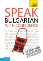Teach Yourself Speak Bulgarian with Confidence