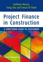 Project Finance in Construction