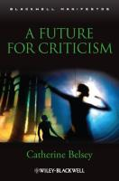 A Future for Criticism