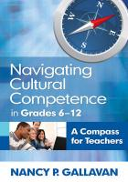 Navigating Cultural Competence in Grades 6-12: A Compass for Teachers - Gallavan, Nancy P.