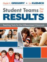 Student Teams That Get Results: Teaching Tools for the Differentiated Classroom