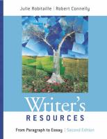 Writer's Resources: From Paragraph to Essay
