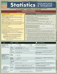 Statistics Equations & Answers Laminated Reference Guides