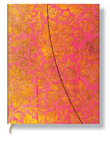 Brocaded Paper Golden Fuchsia Ultra Lined (Brocaded Paper Ultra) - Paperblanks Book Company