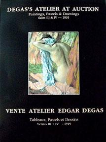 Degas's Atelier at Auction: Paintings, Pastels & Drawings, Paris, 1918-1919. - Degas, Edgar.