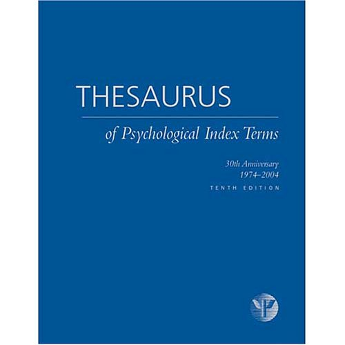 Thesaurus of Psychological Index Terms - Lisa A. Gallagher