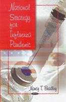 National Strategy for Influenza Pandemic - Bradley, Nancy T.