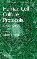 Human Cell Culture Protocols