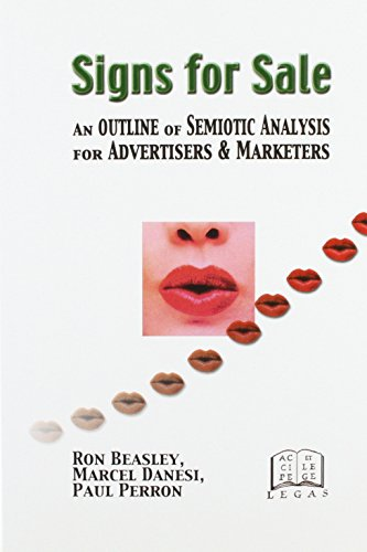 Signs for Sale : An Outline of Semiotic Analysis for Advertisers and Marketers - Paul Perron; Ron Beasley; Marcel Danesi