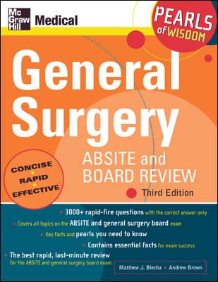 General Surgery Absite and Board Review - Blecha, Matthew J. / Brown, Andrew / Blecha, Michael