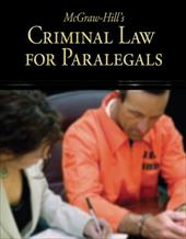 McGraw-Hill's Criminal Law for Paralegals - Schaffer, Lisa / Wietecki, Andrew