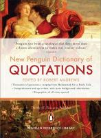 The New Penguin Dictionary of Quotations