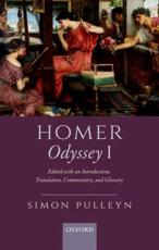 Homer, Odyssey I: Edited with an Introduction, Translation, Commentary, and Glossary