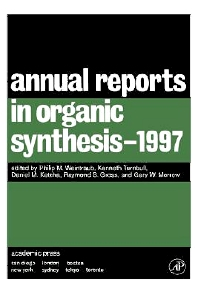Annual Reports in Organic Synthesis 1997