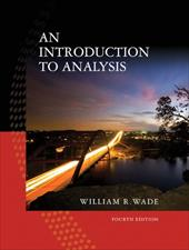 An Introduction to Analysis - Wade, William R.