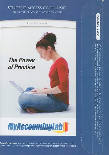 Myaccountinglab with Pearson Etext -- Access Card -- For Accounting