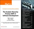 The Analytic Hierarchy Process (AHP) in Software Development (Digital Short Cut) - Bijay K. Jayaswal; Peter C. Patton; Ernest H. Forman
