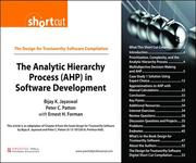 Peter C. Patton;Bijay K. Jayaswal;Ernest H Forman: The Analytic Hierarchy Process (AHP) in Software Development (Digital Short Cut)