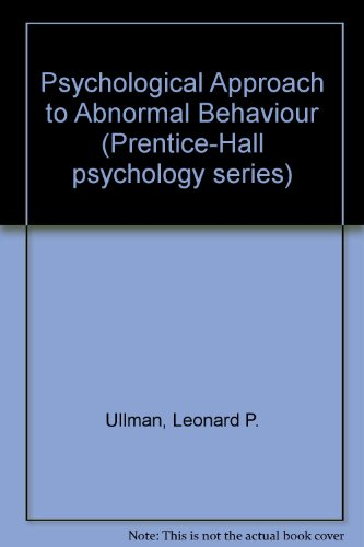 Psychological Approach to Abnormal Behaviour.