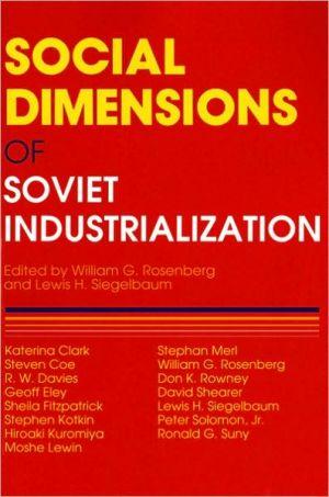 Social Dimensions of Soviet Industrialization