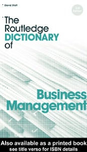 The Routledge Dictionary of Business Management - David A. Statt