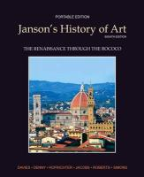 Janson's History of Art Portable Edition Book 3: The Renaissance Through the Rococo