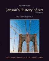 Janson's History of Art Portable Edition Book 4: The Modern World