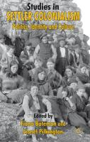 Studies in Settler Colonialism: Politics, Identity and Culture