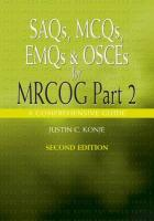 Saqs, McQs, Emqs and Osces for Mrcog Part 2
