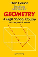 Solutions Manual for Geometry - Philip Carlson