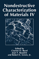 Nondestructive Characterization of Materials - Clay Olaf Ruud; J.F. Bussiere; Robert E. Green