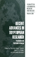 Recent Advances in Tryptophan Research - Graziella Allegri; Carlo V.L. Costa; Antonella Bertazzo