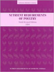 Nutrient Requirements of Poultry: Ninth Revised Edition, 1994 - National Research Council, Subcommittee On Poultry N.