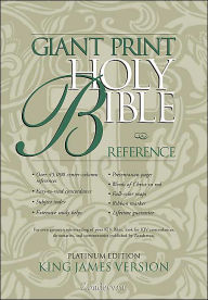 Giant Print Reference Bible, Platinum Edition: King James Bible (KJV), black genuine leather - Zondervan Publishing House