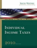 South-Western Federal Taxation 2010: Individual Income Taxes, Volume 1, Professional Version (Book Only)