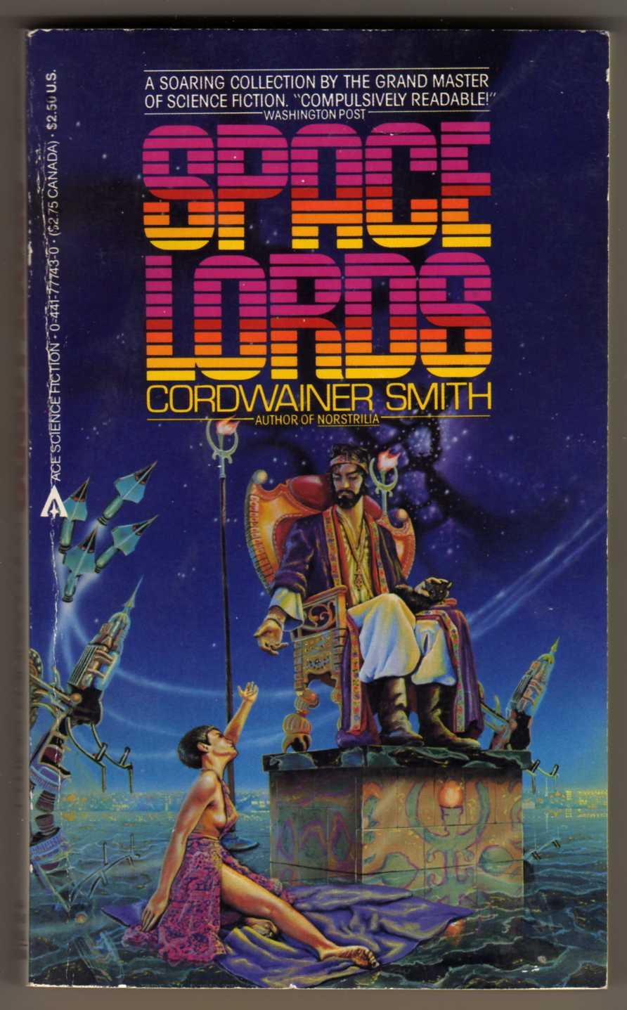 Space Lords : Mother Hitton's Littul Kittons; The Dead Lady of Clown Town; Drunkboat; The Ballad of Lost C'mell; A Planet Named Shayol (Pyramid Books #X-1911)