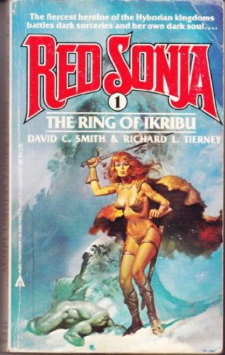 "Red Sonja: six (6) volume saga - book 1 ""The Ring of Ikribu"", book 2 ""Demon Night"", book 3 ""When Hell Laughs"", book 4 ""Endithor's Daughter"", book 5 ""Against the Prince of Hell"", book 6 ""Star of Doom"" -the complete six (6) volume saga of ""Red Sonja"""