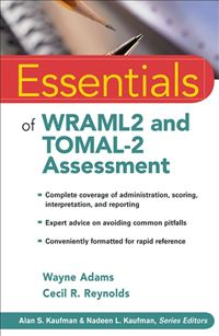 Essentials Of Wraml2 And Tomal-2 Assessment - Wayne Adams,Cecil R. Reynolds