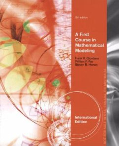 A First Course in Mathematical Modeling - Giordano, Frank Weir, Maurice Fox, William P.