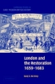 London and the Restoration, 1659-1683 - Gary S. De Krey