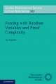 Forcing with Random Variables and Proof Complexity - Jan Krajicek