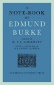 A Note-Book of Edmund Burke - H. V. F. Somerset