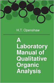 Qualitative Organic Analysis - Openshaw