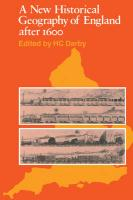 A New Historical Geography of England Ater 1600