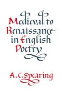 Medieval to Renaissance in English Poetry