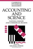 Accounting and Science: Natural Inquiry and Commercial Reason