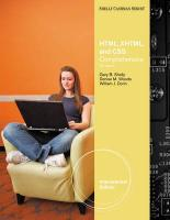 HTML, XHTML, and CSS. by Gary B. Shelly, Denise Woods, William Dorin